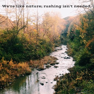 We're like nature. Rushing isn't needed. | by Emily Cavalier