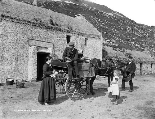 Halfway House at Gweedore in Co. Donegal | by National Library of Ireland on The Commons