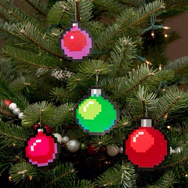 Etsy Christmas Ornaments.New Selection Of Pixel Art Christmas Ornaments On My Etsy