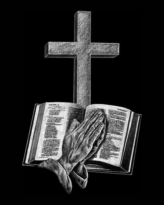 Bible Hands & Cross
