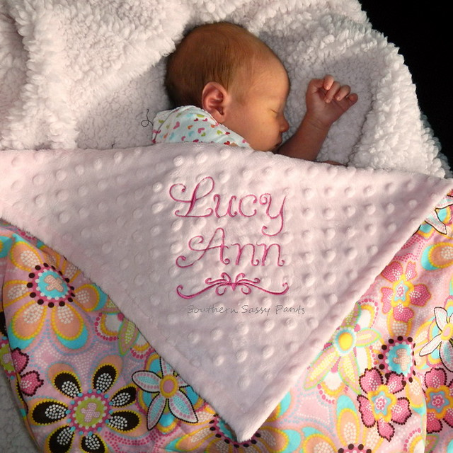 Personalized Baby Girl Blanket