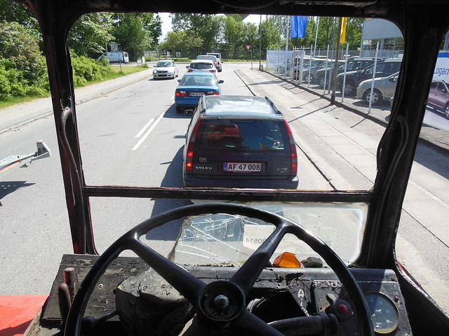 View from the ´´office´´ of AEC Routemaster RML2681