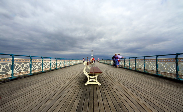 seaside pier bench