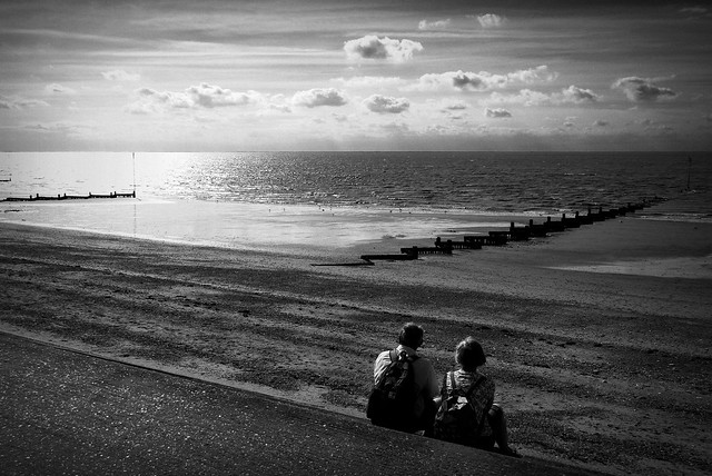 View out to sea (England, tide out)