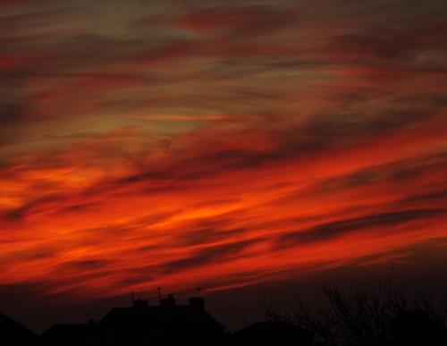 sunrise norahjones portland weather clouds cirrus cumulus vapourtrails mist morning dorset