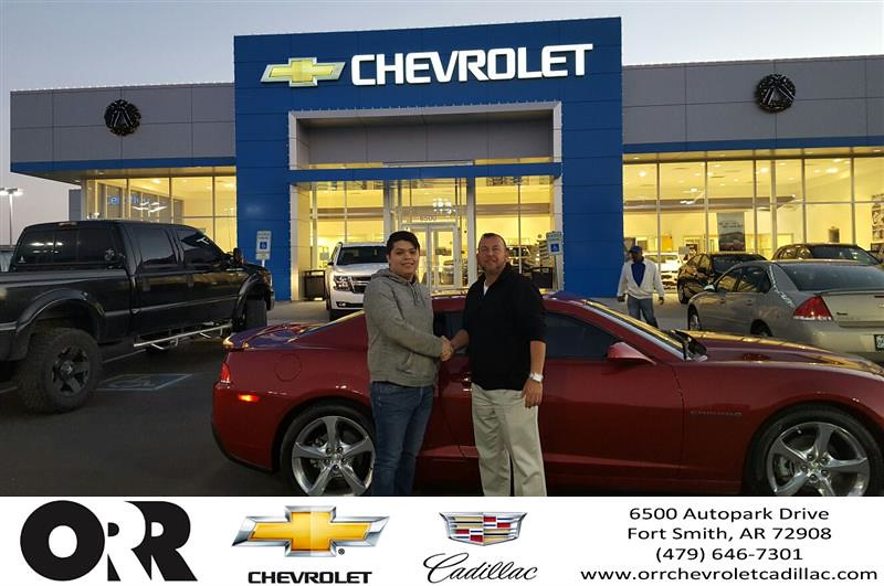 Orr Chevrolet Fort Smith >> Congratulations Jim On Your Chevrolet Camaro From Ruben
