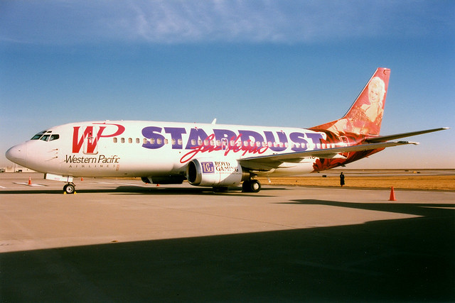 Western Pacific Airlines | Boeing 737-300 | N950WP | Stardust Casino livery | Denver International