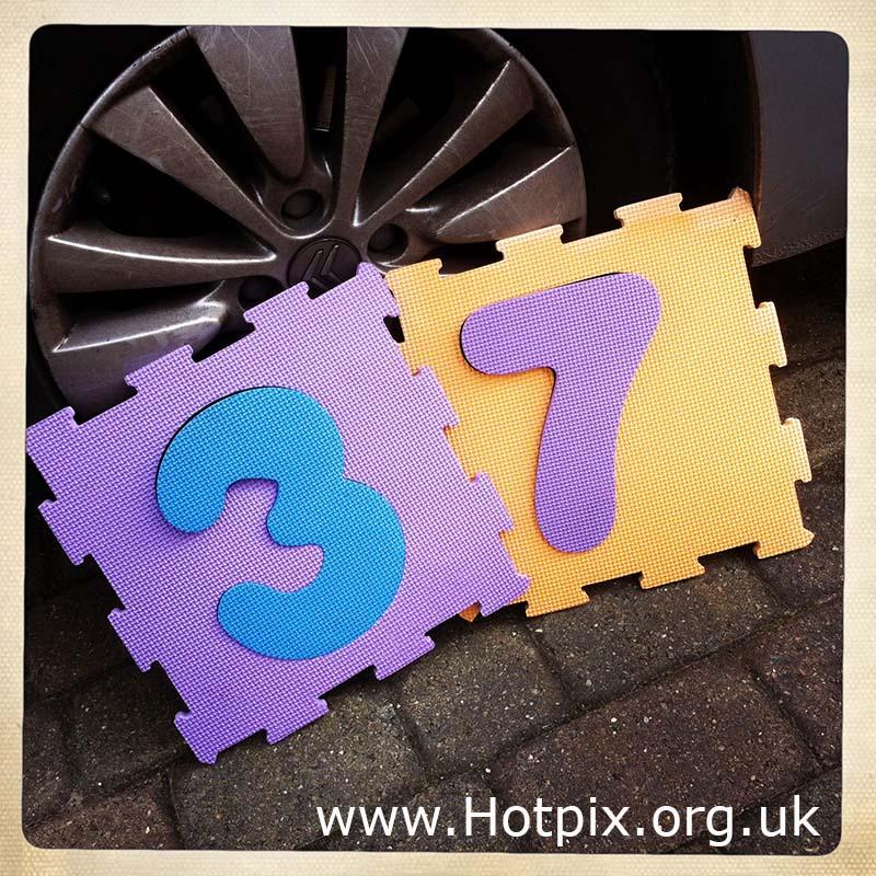 thirtyseven,thirty,seven,number,37,nos,no,integer,integers,tony,smith,hipstamatic,square,iphone,phone,sponge,foam,numbers,UK,England,Hotpix,f16toe,tonysmiththathousingitguy