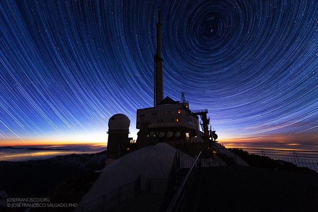 Circumpolar Stars over Pic du Midi