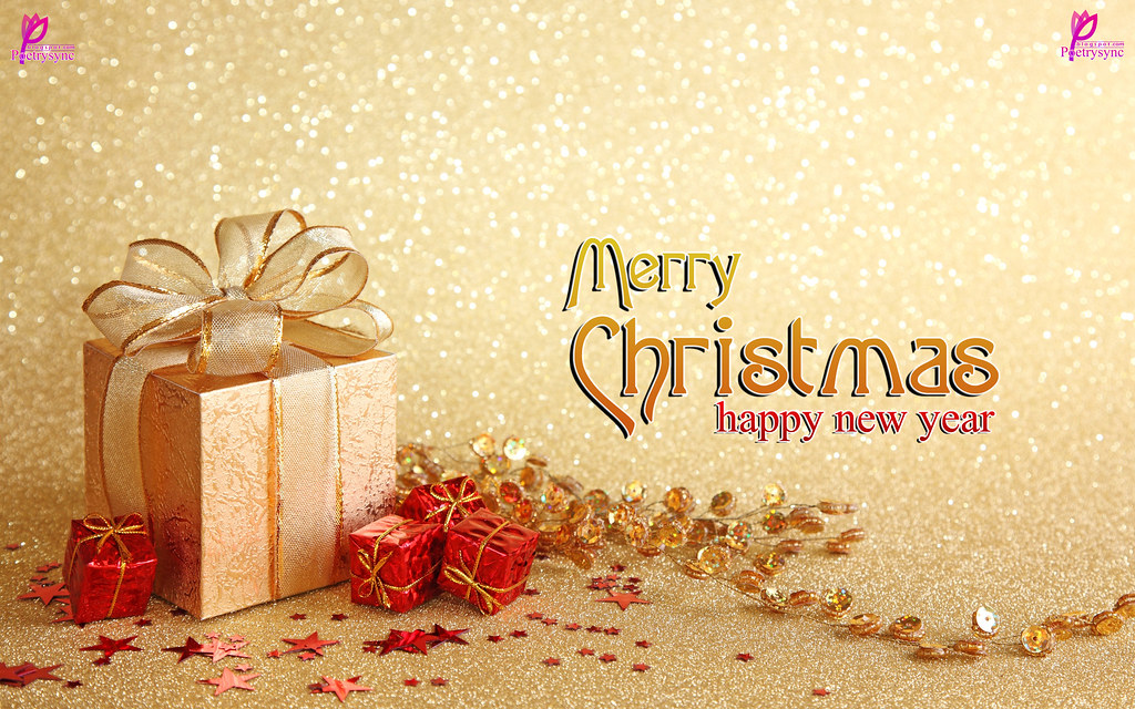 Merry Christmas Hd Wallpaper.Happy New Year Greetings Merry Christmas Wishes Card Hd Wa