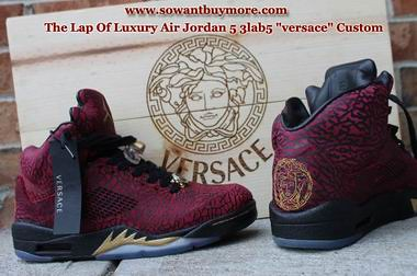 079d8724aee ... Sowantbuymore.com Air Jordan 5 3Lab5 Versace Custom Replica Shoes