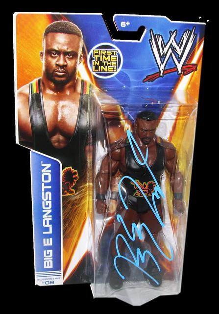 Big E. Langston Autographed WWE Basic Mattel Series 36 Figure
