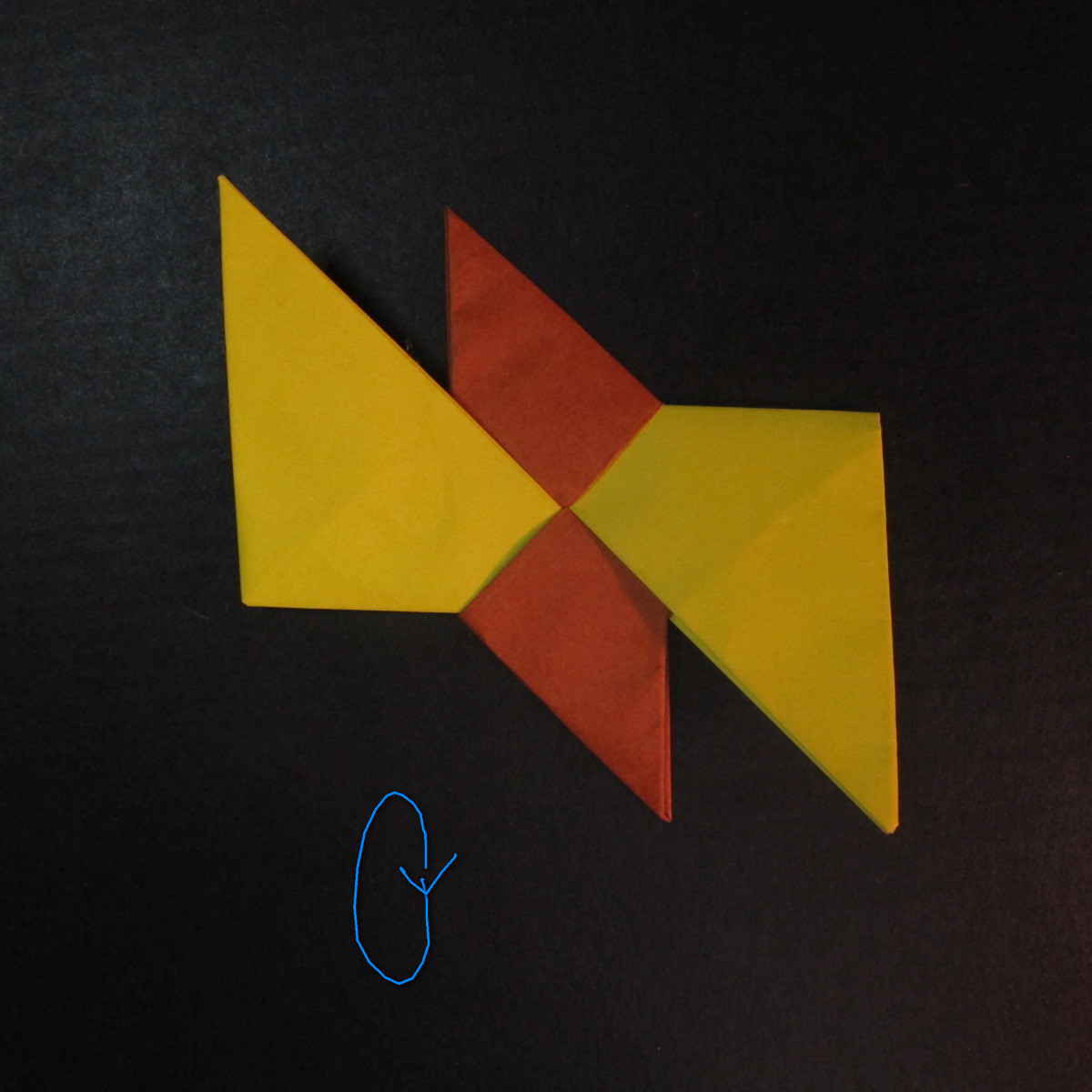 สอนวิธีพับกระดาษเป็นดาวกระจายนินจา (Shuriken Origami) - 013