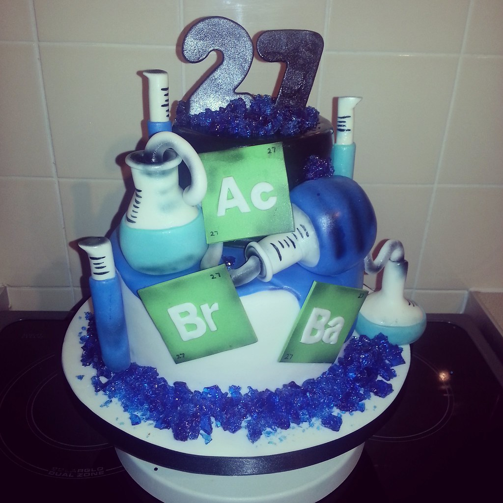 Incredible Mans Breaking Bad Birthday Cake I Saw A Picture Similar To Flickr Funny Birthday Cards Online Overcheapnameinfo