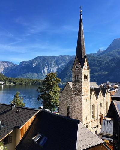 #hallstatt #sky #landscape #history #lake #tourism #travel #österreich #austria #church | by stacy2005ua