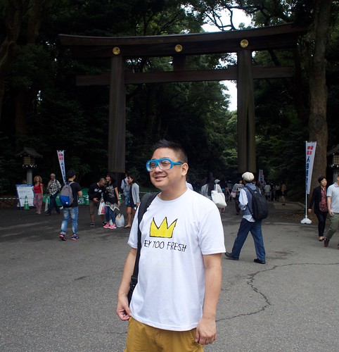 Joe at the entrance of Meiji shrine | by vettie vette