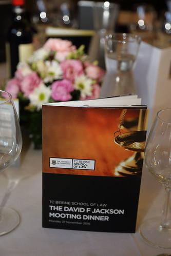 David F Jackson Mooting Dinner