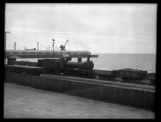 Emu Bay Railways Locomotive No. 15 shunting Burnie yard, Tasmania [1949]