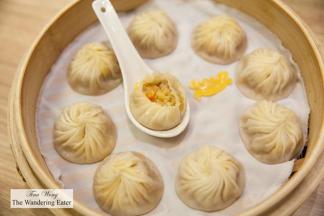 Pork and crab roe xiao long bao