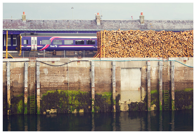 Logs and Train, Kyle of Lochalsh