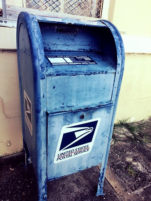 Blue the mailbox