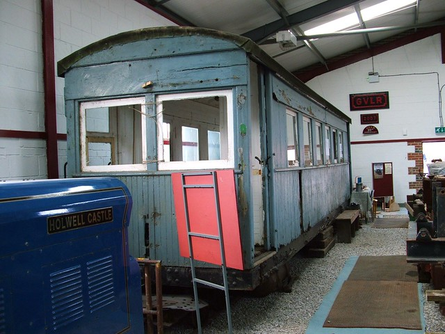 Ashover Light Railway Carriage, at the GVR Workshops, Midland Railway Centre. 2008