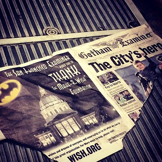 #batkid paper on the floor of a MUNI trolley | by 0B1