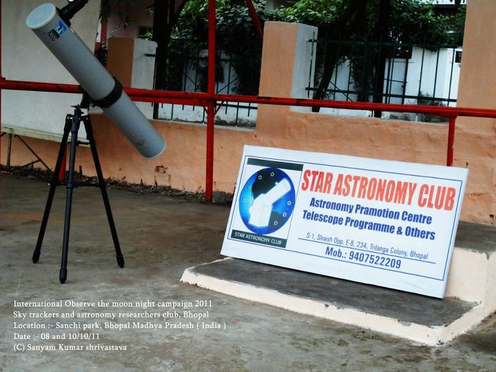 Sky trackers and Astronomy researchers club, Bhopal, activ