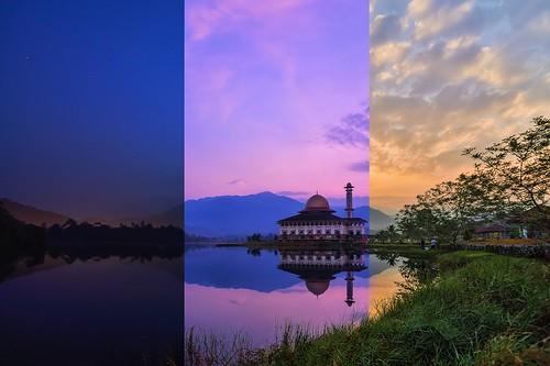 cloud lake reflection composite sunrise mirror nikon smooth calm bluehour dq goldenhour d600 jakim kualakububaru darulquran ariefrasa