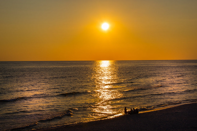 Sunset in Panama City Beach Pier - Florida - USA