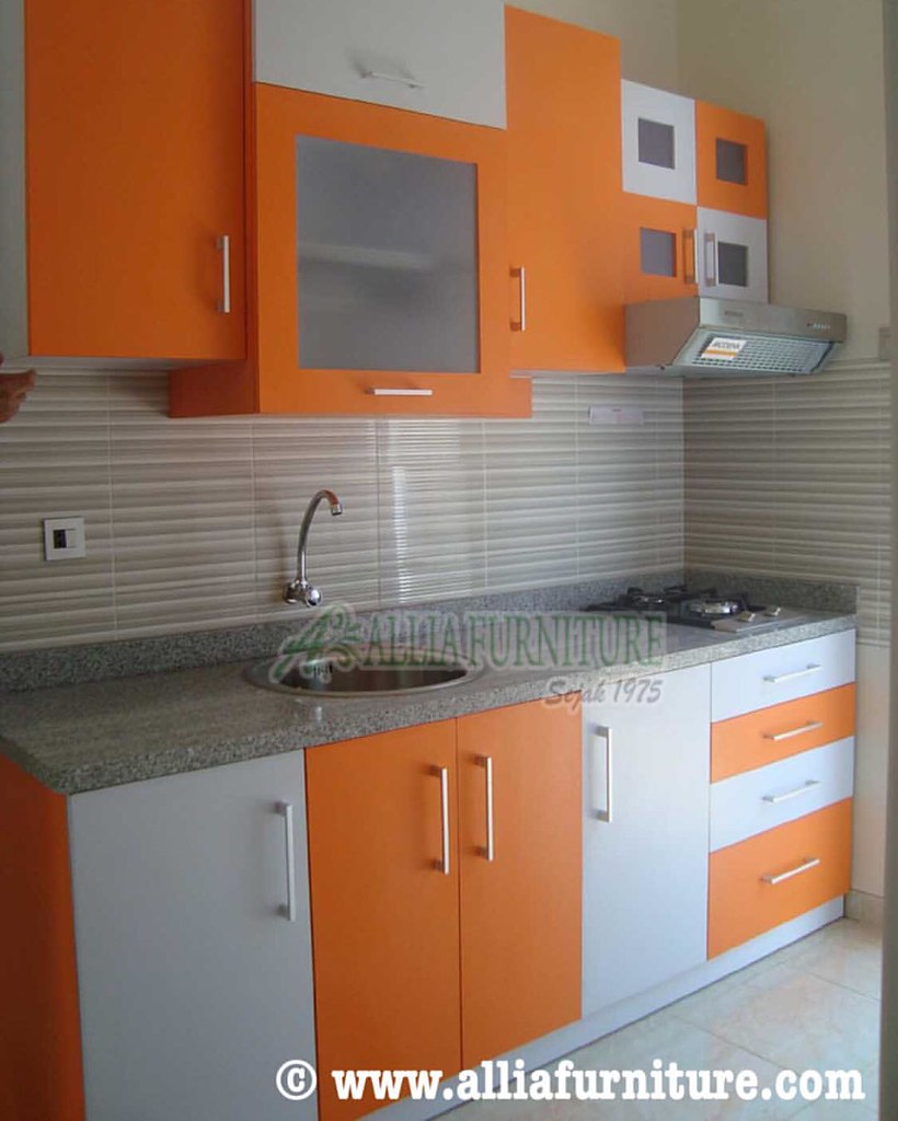 Kitchen Set Warna Orange