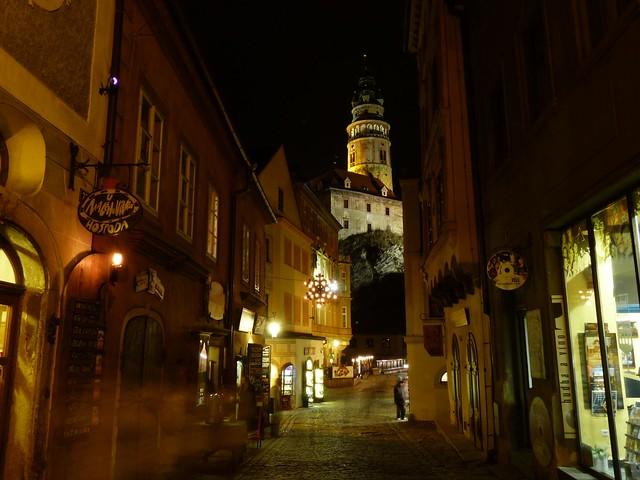 Noche en Cesky Krumlov (República Checa)