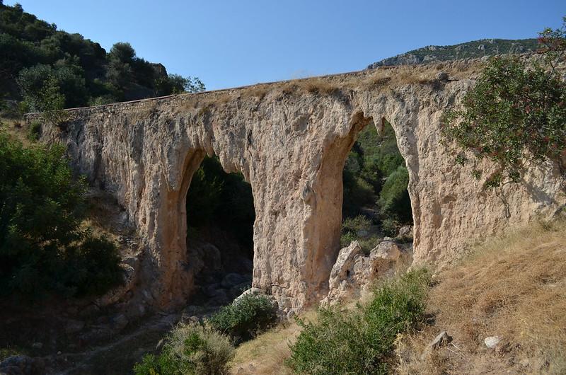 Loukou: Roman aqueduct bridge 3, looking S
