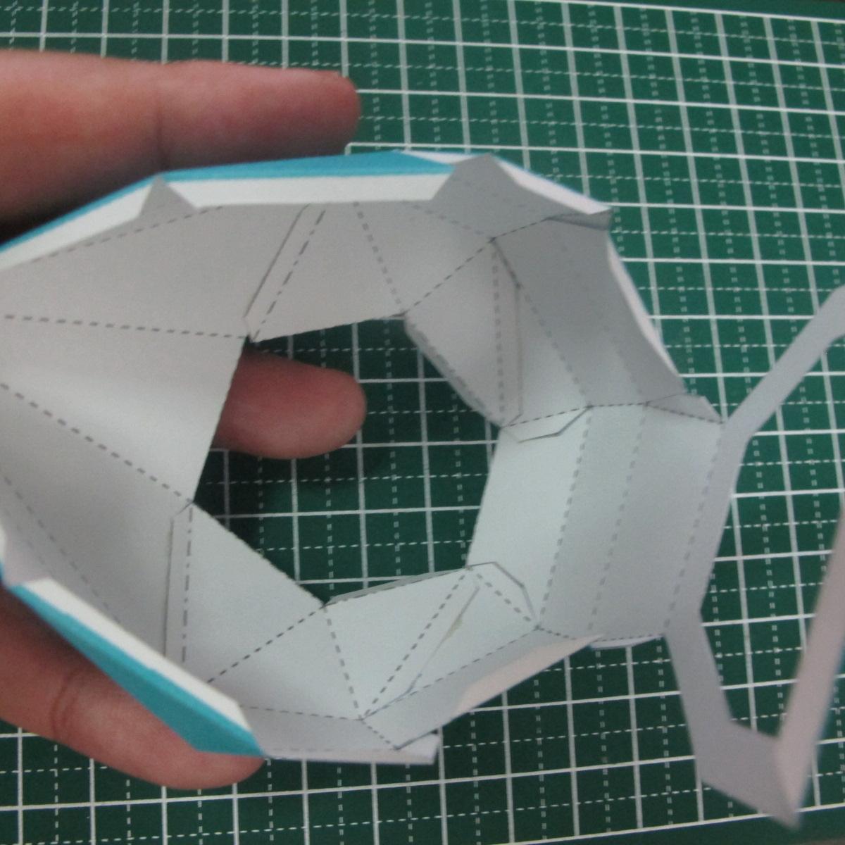 วิธีทำของเล่นโมเดลกระดาษรูปนก (Bird Paper craft ) 017