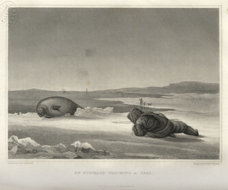 An Equimaux watching a seal (1824)   by Toronto Public Library Special Collections