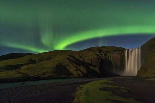 Northern Lights at Skogafoss | by Sander Grefte