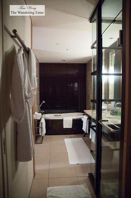 Smartly designed bathroom area