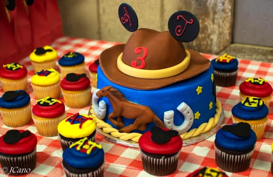 Outstanding Mickey Mouse Cowboy Cake Cupcakes This Western Theme Micke Flickr Funny Birthday Cards Online Inifofree Goldxyz