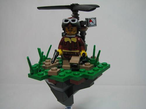 Dr. Charle James flying machine