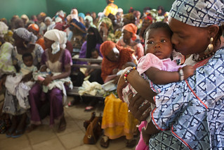 Mothers wait to vaccinate their babies | by World Bank Photo Collection