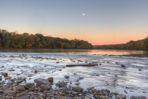 moon water sunrise river delawareriver stocktonnj