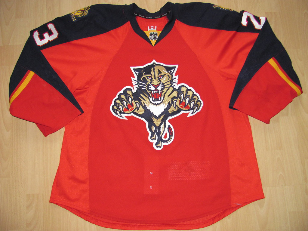huge discount b6e76 b77d6 Florida Panthers 2012 - 2013 home Game Worn Jersey | Flickr