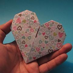 วิธีการพับกระดาษเป็นรูปหัวใจ 019
