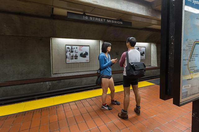 No Pants Subway Ride 2014, San Francisco