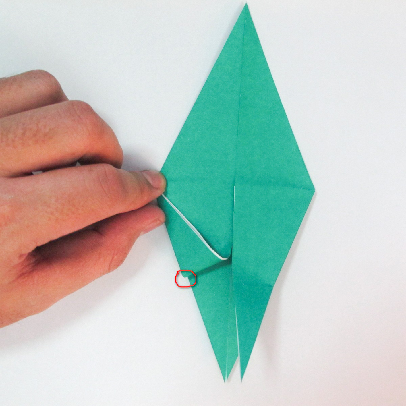 สอนวิธีการพับกระดาษเป็นรูปปลาฉลาม (Origami Shark) 020