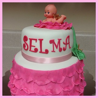 Baby shower cake. #prettyinpink | by CookingCinderella