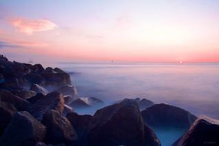 Sunset Rocks   by Kenneth J. Garcia