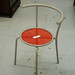 Red and Grey tubular chair