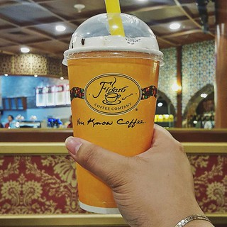 •Coffee Jelly• Iced Coffee with Coffee Jelly bits topped w ...