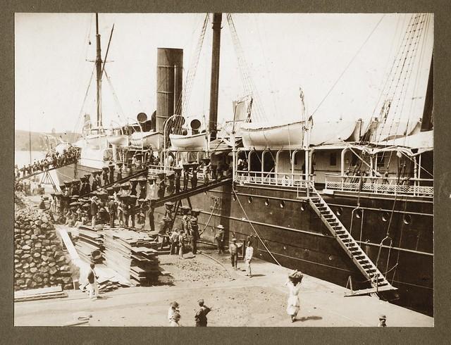 Coaling a Ship, St Thomas, ca 1890